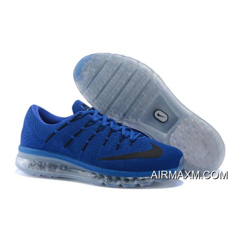 brand new ebe92 662ae Buy Now Air Max 2016 Flyknit Blue Grey Black ...