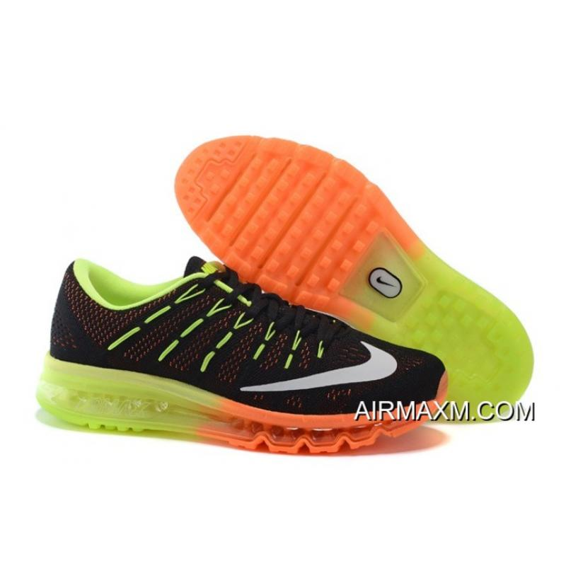 bfe2400527 ... boost Nike Air Max 2016 mens womens Sneakers For Sale Air Max 2016  Flyknit Orange Black Green .