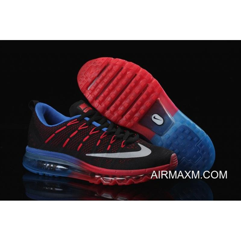 8dbe76ab2020 For Sale Air Max 2016 Flyknit Red Black Blue ...