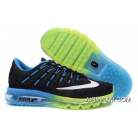 Air Max 2016 Men Green Blue Black Authentic