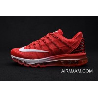 Air Max 2016 Premium Men All Red Grey 3M New Year Deals