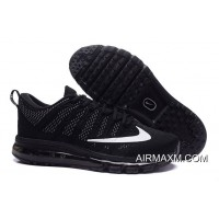New Year Deals Flyknit Air Max All Black White