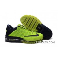 Nike Air Max 2016 Fluorescent Green Navy Blue For Men Latest