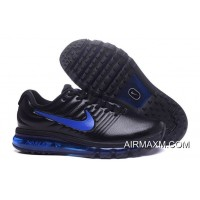 Authentic Nike Air Max 2017 Leather Blue Black