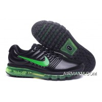 Nike Air Max 2017 Leather Grass Green Black Top Deals