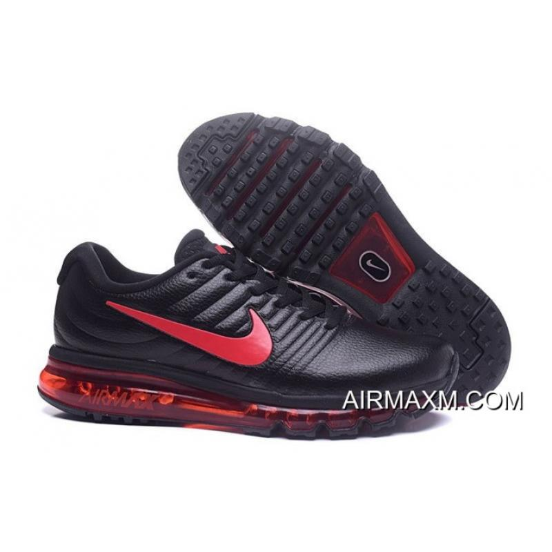 buy online 273ce 3b37f Discount Nike Air Max 2017 Leather Red Black, Price: $75.67 - Nike ...