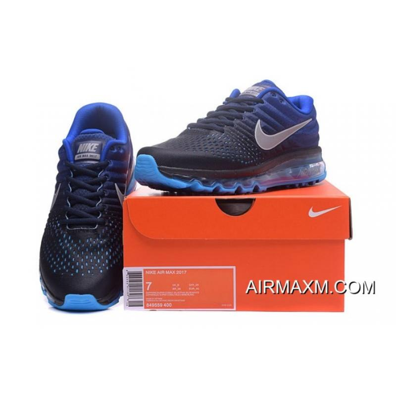 best loved 19a9e a1766 ... Nike Air Max 2017 Running Shoes Royal Blue Black Grey Big Deals ...
