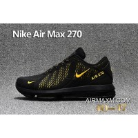 Authentic Nike Air Max 270 Black Yellow