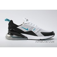 Nike Air Max 270 Flyknit White Black Jade New Style