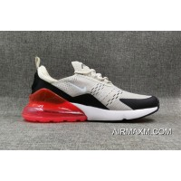 Nike Air Max 270 Flyknit White Black Red New Style