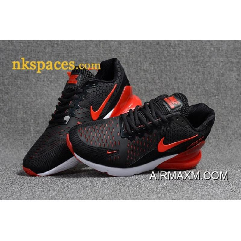 new product 82faa 2ed72 Nike Air Max 270 Men Black Red New Style