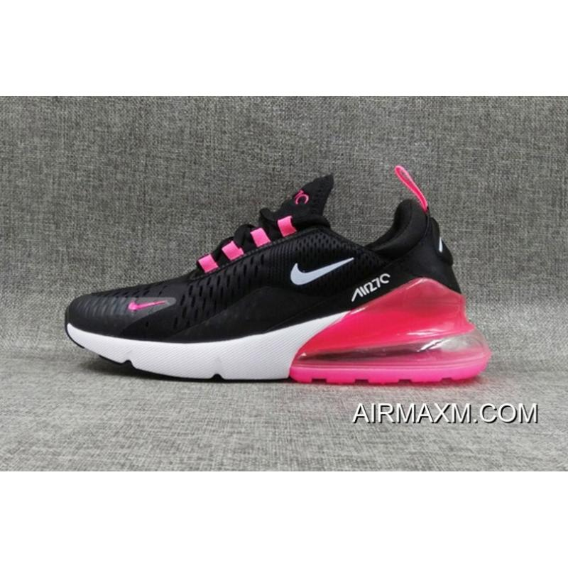 premium selection 24980 aa319 Nike Air Max 270 Flyknit Women Black White Pink Online