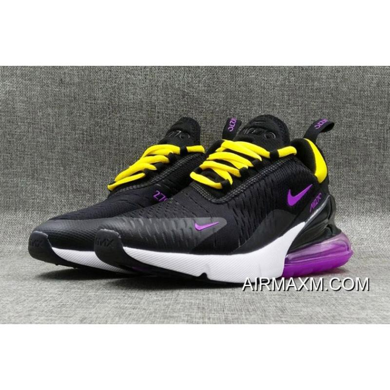huge selection of c14f5 c51ce ... discount outlet nike air max 270 flyknit women black yellow purple  white f92ea b9925