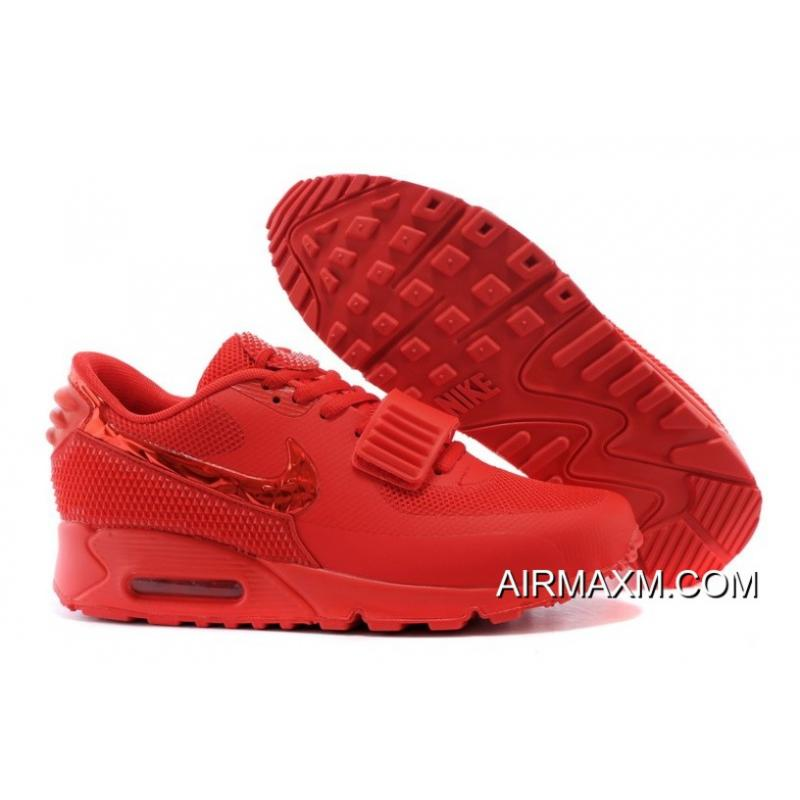 Free Shipping Nike Air Max 90 Air Yeezy 2 SP All Red ... a2e97f539
