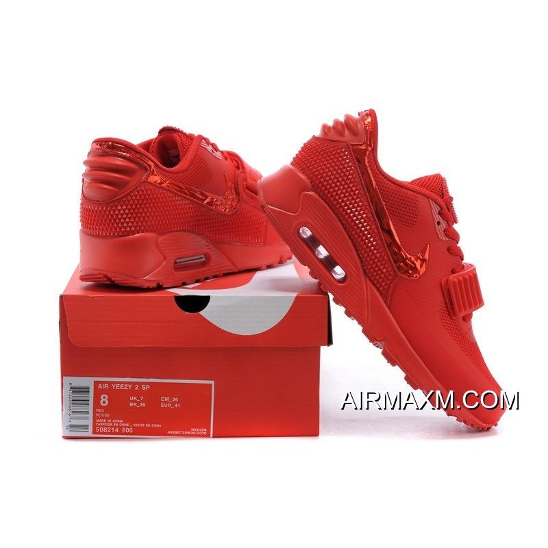 7290415fba9ec ... Free Shipping Nike Air Max 90 Air Yeezy 2 SP All Red ...