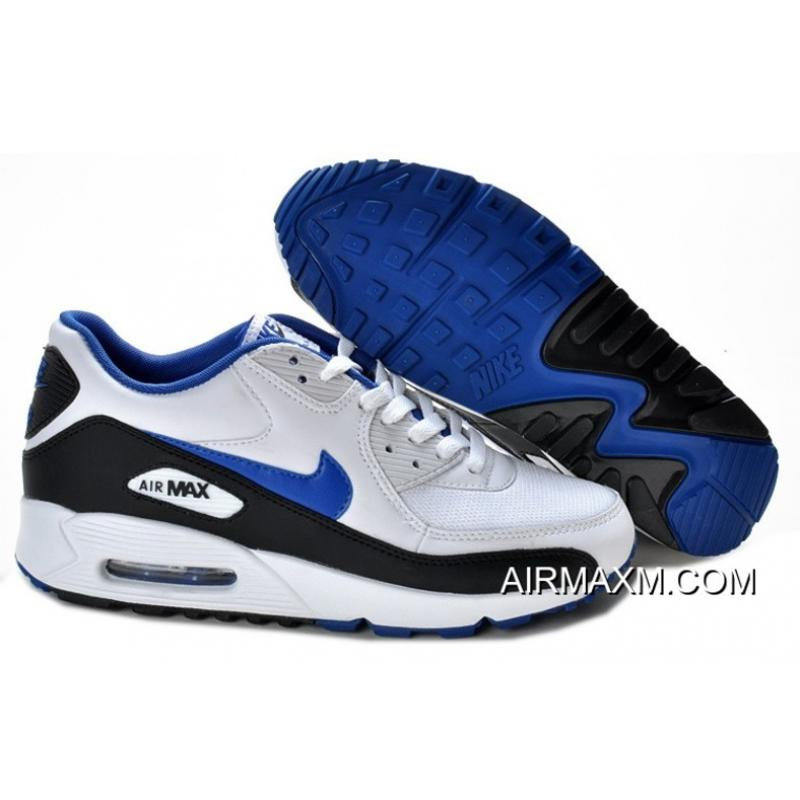 a0ad73d7922c63 Nike Air Max 90 Classic Hot White Black Blue New Release ...
