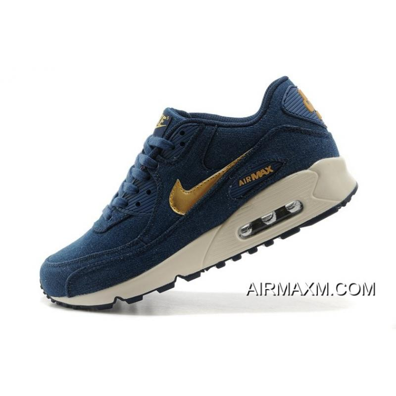 c3b591ef11 ... sweden nike air max 90 denim men dark blue gold training shoes new year  deals b0ffa