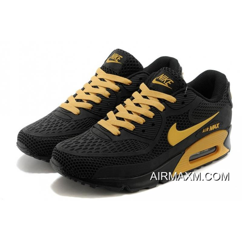 new concept 8f1f2 dc45d Nike Air Max 90 Essential Black Gold Men Free Shipping ...