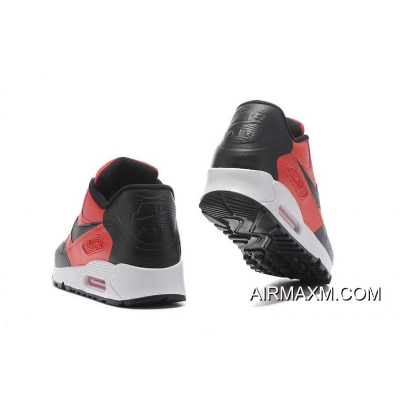 designer fashion 6aacb 8110a ... Nike Air Max 90 Premium SE Red Black White Best ...
