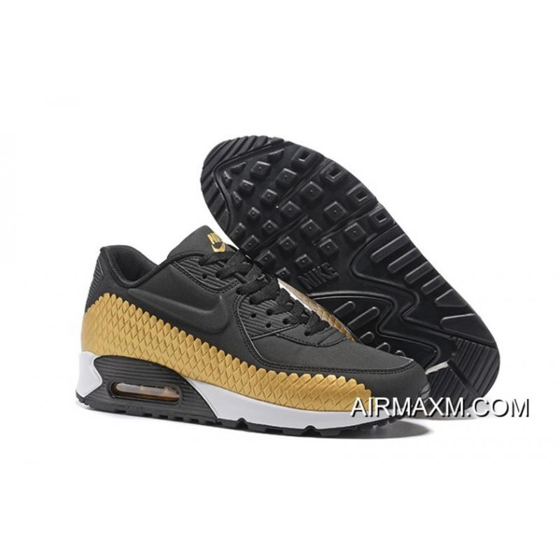 big sale 17134 7967a Where To Buy Nike Air Max 90 Woven Black Gold White, Price: $69.08 ...