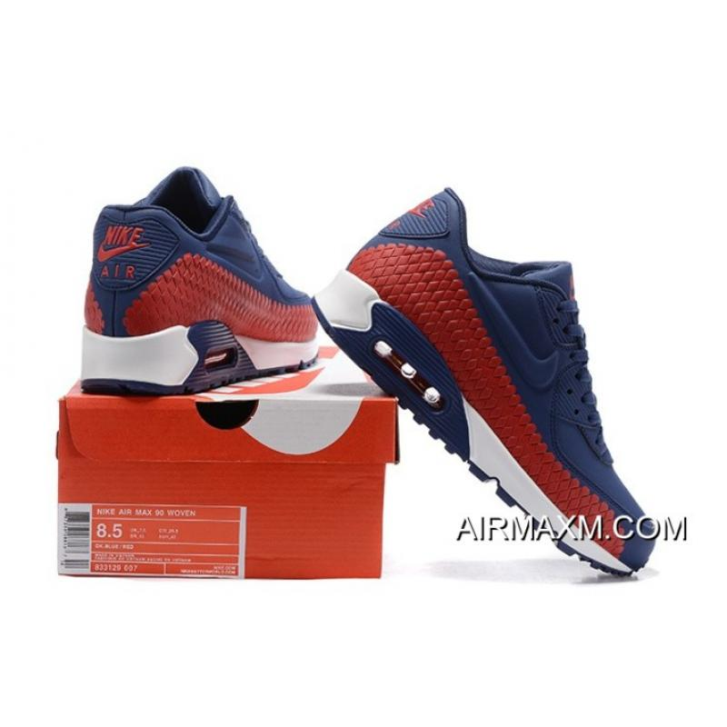 63dbc7ab41 ... get nike air max 90 woven dark blue red white new style 95061 10c99