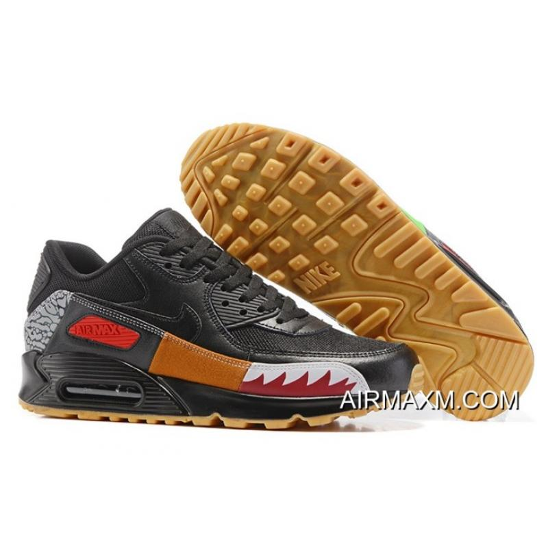 Top Deals Nike Air Max 90 Black Seven Color Women ... 2ce2e3f18
