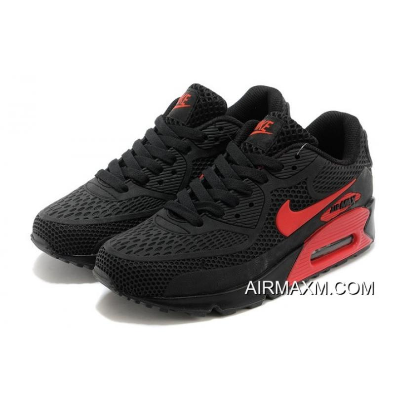 premium selection 9883f b4c06 New Release Nike Air Max 90 Essential Black And Red Men Women, Price ...
