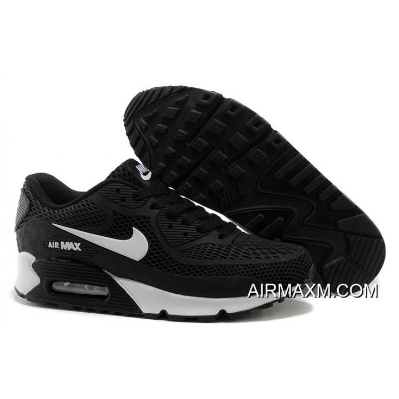 nike air max black and white men