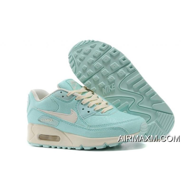 quality design 814b1 5bcfa Nike Air Max 90 Sequins Women Light Blue Training Shoes Buy Now ...