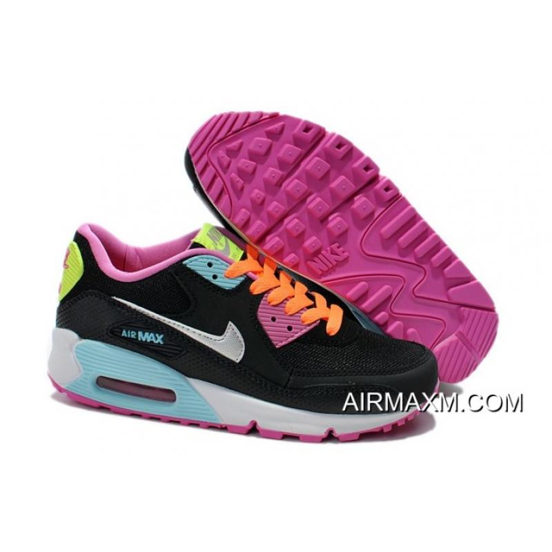 buy online f69a6 19c34 ... clearance nike air max 90 women black silver pink training shoes top  deals a4b3d c7597