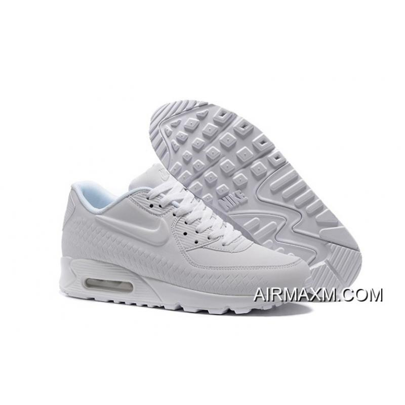 half off 99715 e5729 Women Nike Air Max 90 Woven All White Authentic ...