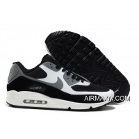 New Release Nike Air Max 90 Hyperfuse Men White Black Grey