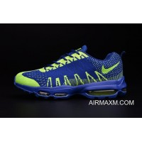 Best Flyknit Air Max 95 Royal Blue Green