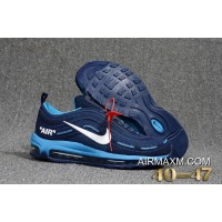 Nike Air Max 97 Undefeated KPU Navy Blue Light Blue Free Shipping