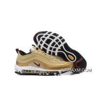 Outlet Nike Air Max 97 Women Golden White