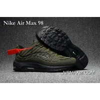 New Year Deals Nike Air Max 98 Army Green Black Shoes