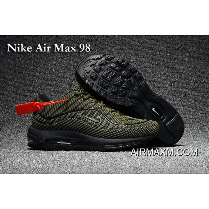 ecb7565965 New Year Deals Nike Air Max 98 Army Green Black Shoes, Price: $74.86 ...