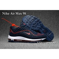 Nike Air Max 98 Deepblue Red Shoes Best
