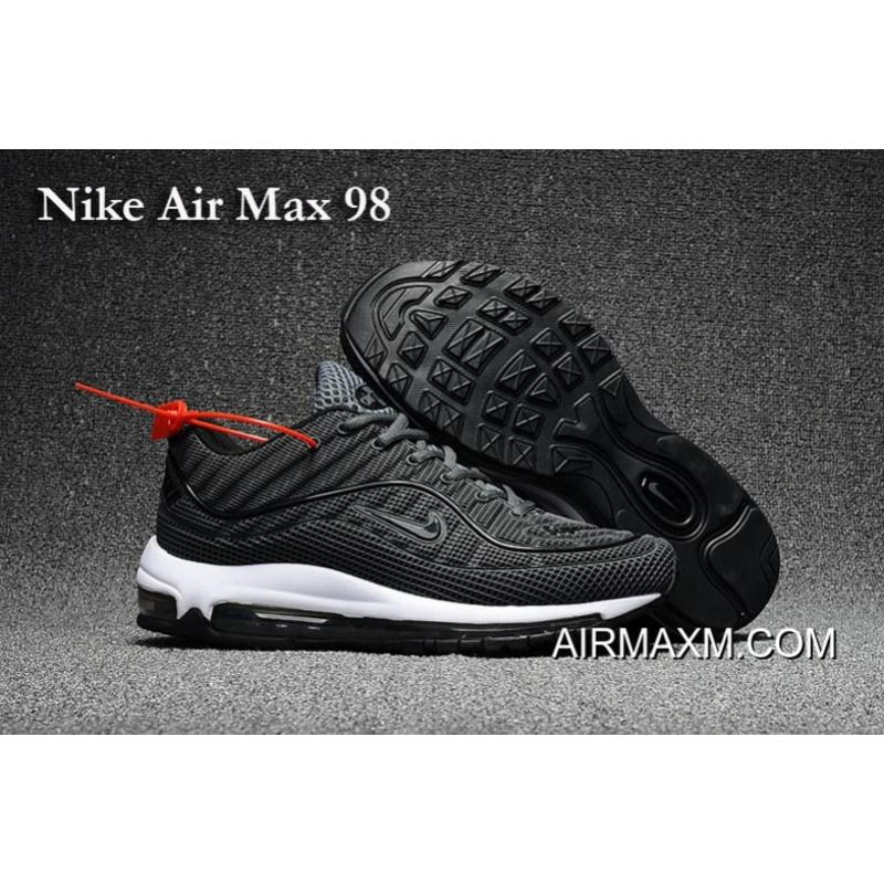 b28f215a367 Nike Air Max 98 Gray Black Shoes New Release ...