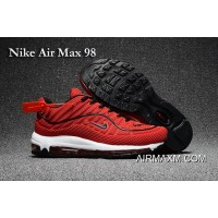 Discount Nike Air Max 98 Red White Shoes