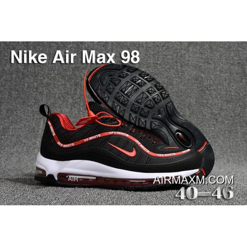 promo code 9d868 c35f9 New Release Off White Nike Air Max 98 Black Red White