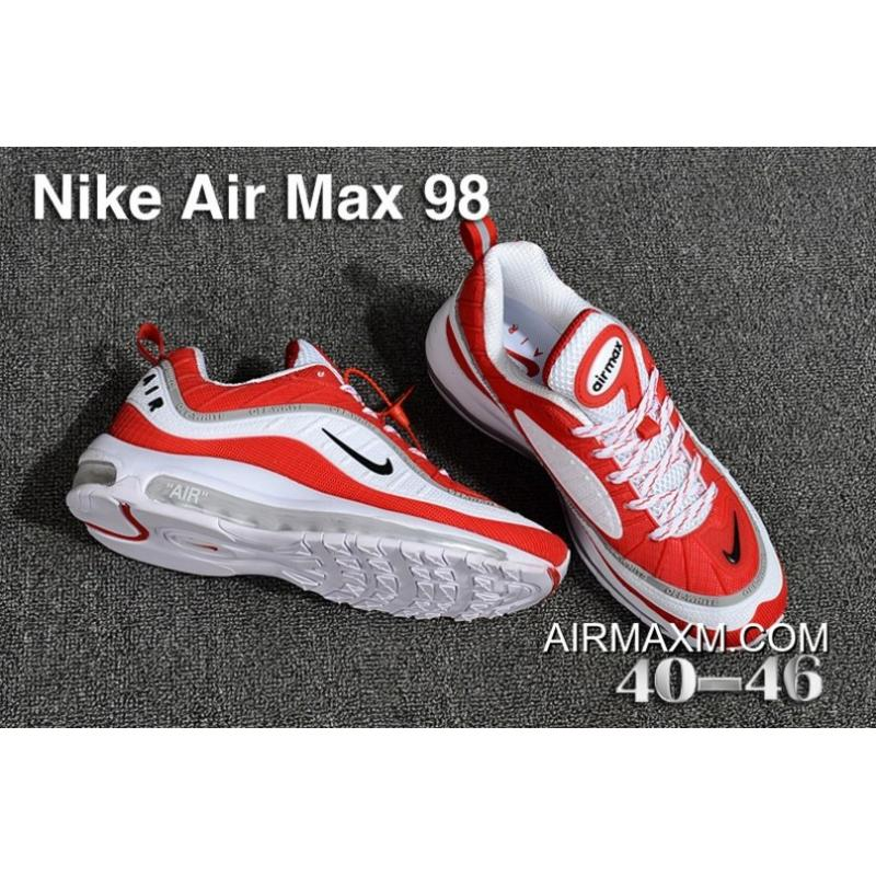 d45c1ded9b4f ... New Release Off White Nike Air Max 98 KPU White Red Grey ...