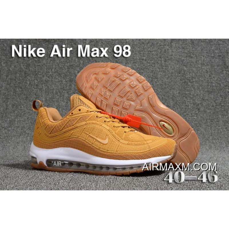 newest b2701 25bf6 For Sale Off White Nike Air Max 98 Wheat White