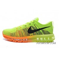 Big Deals Flyknit Air Max Neon Green Orange Black