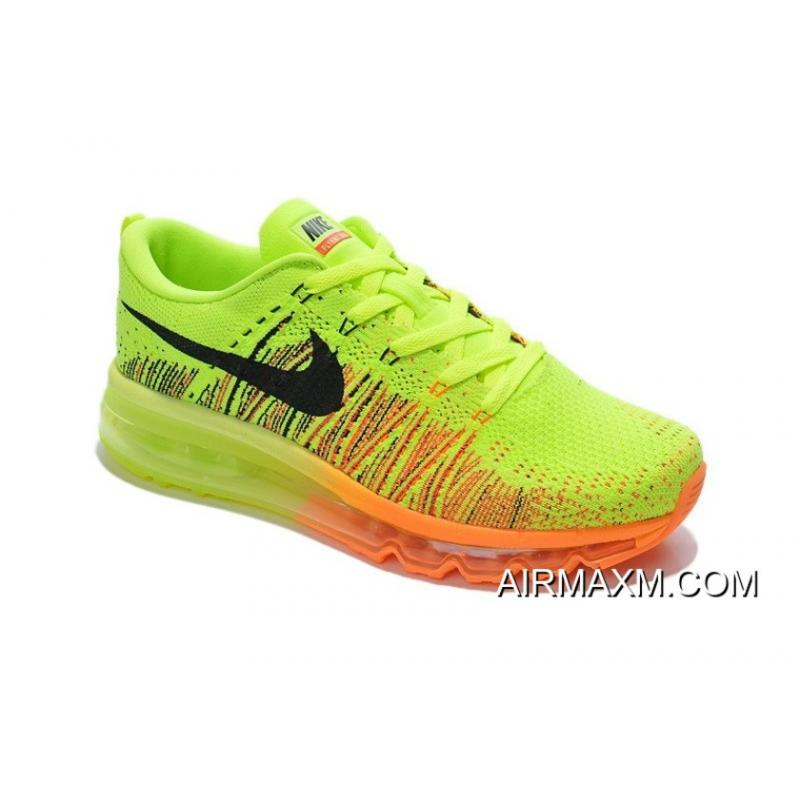 low priced a7752 94fe7 Big Deals Flyknit Air Max Neon Green Orange Black, Price: $67.49 ...