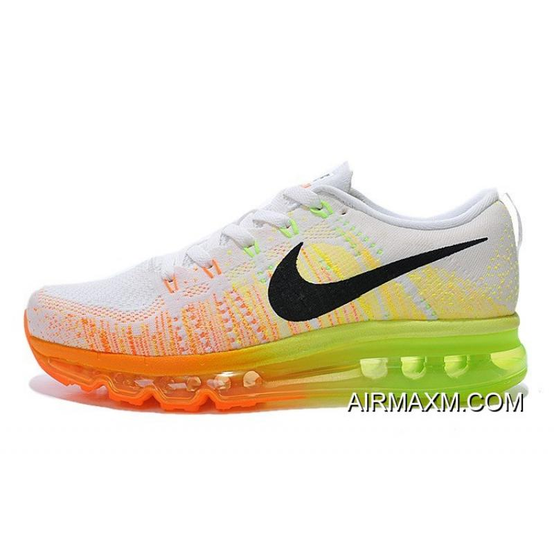 huge discount 40b16 d3381 Flyknit Air Max White Orange Green Black New Release
