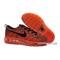 Flyknits Air Max Orange Black New Year Deals