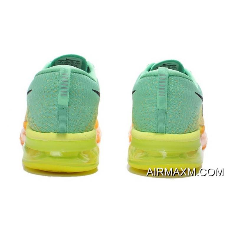 more photos dfa29 1f57d ... New Release Nike Flyknit Air Max Apple Green Orange Black ...