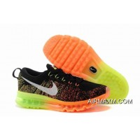Big Deals Nike Flyknit Air Max Black Orange Neon Green