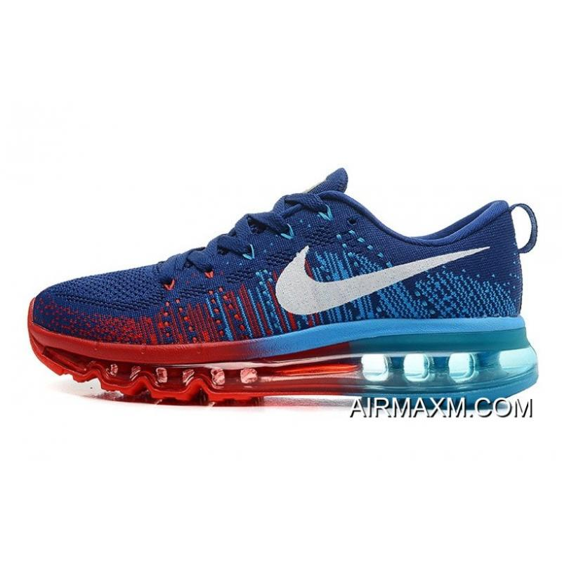 b0c6f64b5e0a ... Nike Flyknit Air Max Dark Blue Red Blue Outlet